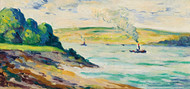 Art Prints of The Scene Around Vetheuil by Maximilien Luce