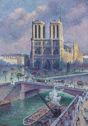 Art Prints of Notre Dame de Paris 1900 by Maximilien Luce