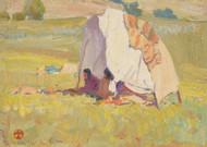 Art Prints of Apache Shelter, White Mountain Reservation, Arizona by Maynard Dixon