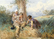 Art Prints of Fishing by Myles Birket Foster