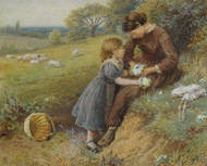 Art Prints of Primroses by Myles Birket Foster