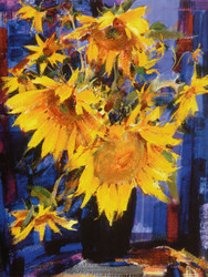 Art Prints of Sunflowers by Nicolai Fechin