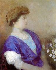 Art Prints of Portrait of the Marquise de Gonet by Odilon Redon