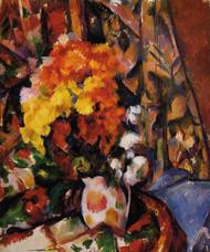 Art Prints of Chrysanthemums by Paul Cezanne