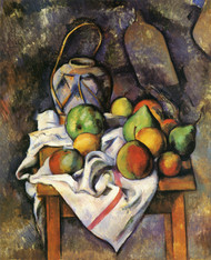 Art Prints of Ginger Jar and Fruit by Paul Cezanne