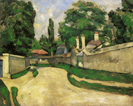 Art Prints of Houses Along the Road by Paul Cezanne