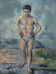 Art Prints of The Bather, Le Grand Baigneur by Paul Cezanne