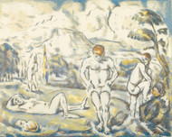 Art Prints of The Bather, a Drawing by Paul Cezanne