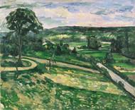 Art Prints of The Tree by the Bend by Paul Cezanne
