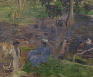 Art Prints of On the Shore of the Lake at Martinique by Paul Gauguin