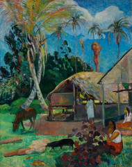 Art Prints of The Black Pigs by Paul Gauguin