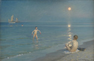 Art Prints of Bathing and Swimming at Skagen Beach by Peder Severin Kroyer