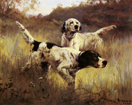 Art Prints of English Setters in the Field by Percival Leonard Rosseau