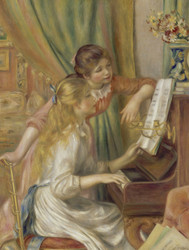 Art Prints of Young Girls at the Piano II by Pierre-Auguste Renoir