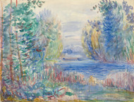 Art Prints of River Landscape, 1890 by Pierre-Auguste Renoir
