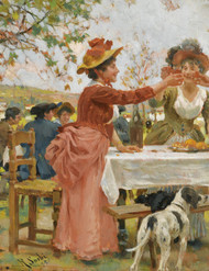 Art Prints of Festivities in the Campagna by Raffaello Sorbi