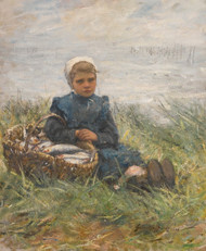 Art Prints of A Basket of Herring by Robert Gemmell Hutchison
