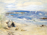 Art Prints of Watching the Boats by Robert Gemmell Hutchison