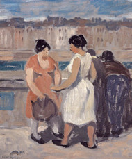 Art Prints of By the Seine by Robert Spencer