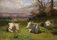 Art Prints of Cows Resting by Rosa Bonheur