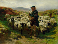 Art Prints of The Highland Shepherd by Rosa Bonheur