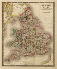 Art Prints of England and Wales, 1828 (4224006) by S. Sidney Hall