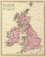 Art Prints of British Isles, 1864 (0197021) by S.S. Sarah