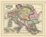 Art Prints of Austrian Empire, 1890 (0594063) by Samuel Augustus Mitchell