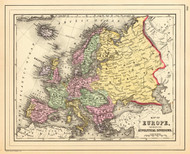 Art Prints of Europe, 1890 (0594056) by Samuel Augustus Mitchell and W. Williams