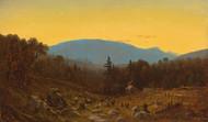 Art Prints of A Sketch of Hunter Mountain, Catskills by Sanford Robinson Gifford