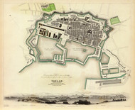 Art Prints of Toulon, 1840 (0890205), Great Britain Map