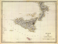 Art Prints of Italy III, 1830 (0890042), Great Britain Map