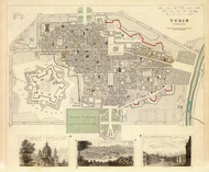 Art Prints of Turin, 1833 (0890206), Great Britain Map