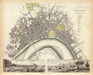 Art Prints of Bordeaux, 1832 (0890165), Great Britain Map