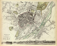 Art Prints of Munich, 1832 (0890190), Great Britain Map