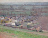 Art Prints of A Bird's Eye View, Giverny by Theodore Robinson