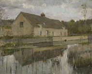 Art Prints of On the Canal by Theodore Robinson