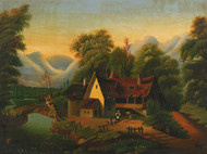 Art Prints of Tumble Down Cottage by Thomas Chambers