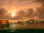 Art Prints of Threatening Sky, Bay of New York by Thomas Chambers
