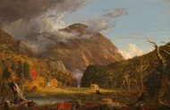 Art Prints of A View of the Mountain Pass, Crawford Notch by Thomas Cole