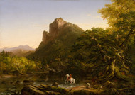 Art Prints of The Mountain Ford by Thomas Cole