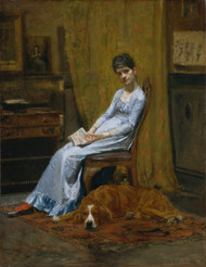 Art Prints of The Artists Wife and His Setter Dog by Thomas Eakins