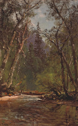 Art Prints of Wooded Glen by Thomas Hill