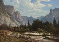 Art Prints of Resting by a Stream by Thomas Hill
