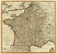 Art Prints of France, Departments (2310025) by Jefferys, Kitchin, Laurie and Whittle