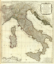 A New Map of Italy (0411021) by Thomas Kitchin