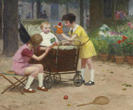 Art Prints of Entertaining Baby by Victor Gabriel Gilbert