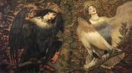 Art Prints of Sirin and Alkonost, Birds of Joy and Sorrow by Viktor Vasnetsov