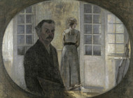 Art Prints of Double Portrait of the Artist and His Wife by Vilhelm Hammershoi
