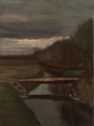 Art Prints of Footbridge Across a Ditch by Vincent Van Gogh